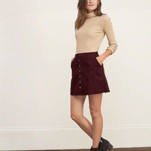 PacSun Purple Corduroy Button Up Mini skirt